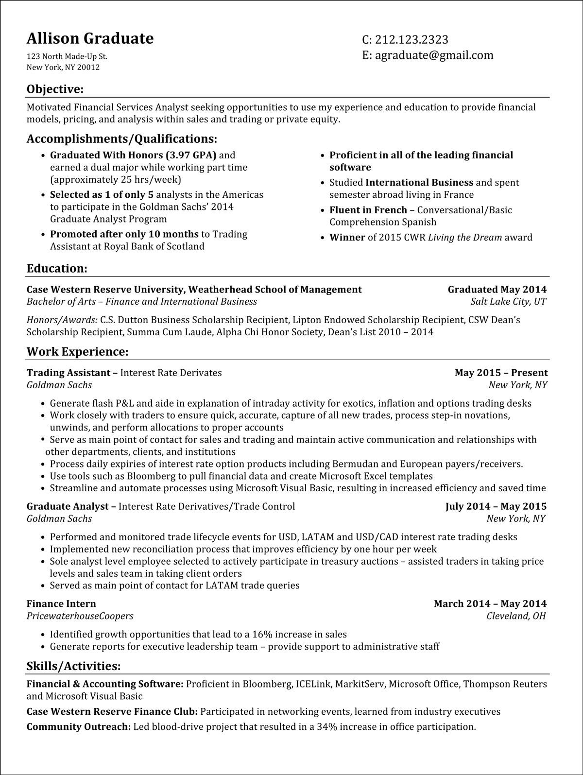 Recent College Graduate Resume Cover Letter Samples Design Synthesis